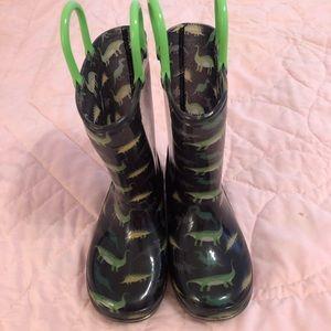 Other - Dinosaur Rain Boots toddler boy size 9-10